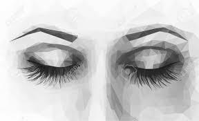 Dessin yeux fermes